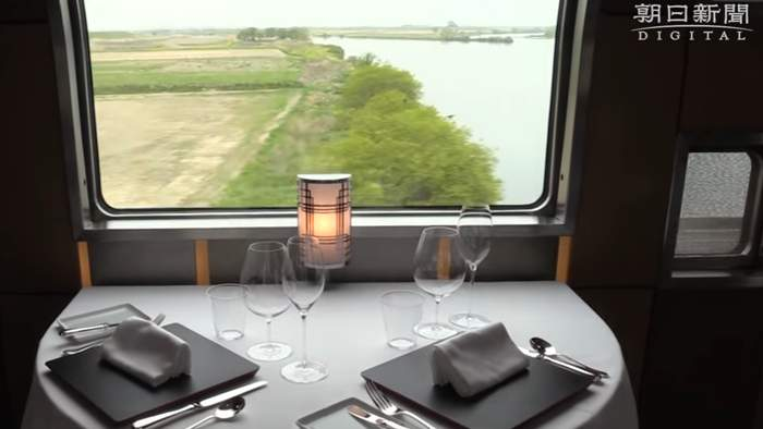 Train Suite Skiki-Shima luxury dining